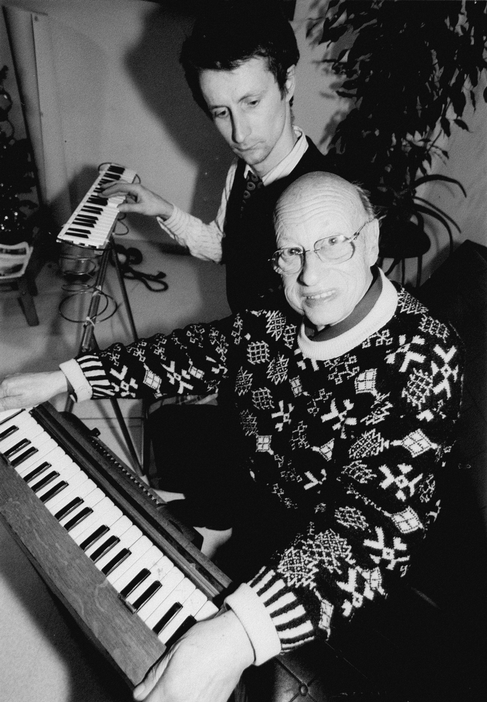 Jean Jacques Perrey & David Chazam, Photo JP Loyer
